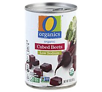 O Organics Beets Cubed Low Sodium - 15 Oz