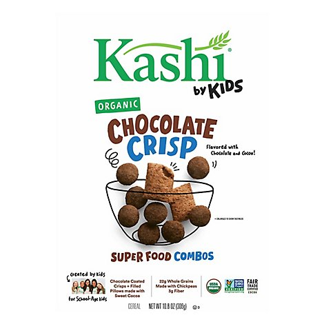 Kashi by Kids Cereal Organic Super Foods Combos Cocoa Crisp Box - 10.8 Oz