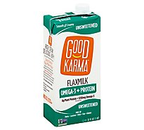 Good Karma Flaxmilk Omega 3 + Protein Unsweetened Carton - 32 Oz