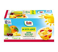 Dole Mixed Fruit Cherry In 100% Juice Box - 12-4 Oz