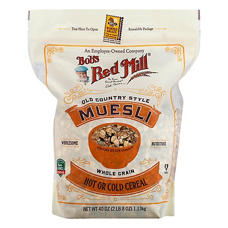 Bobs Red Mill Cereal Muesli Hot Cold Old Country Style - 40 Oz