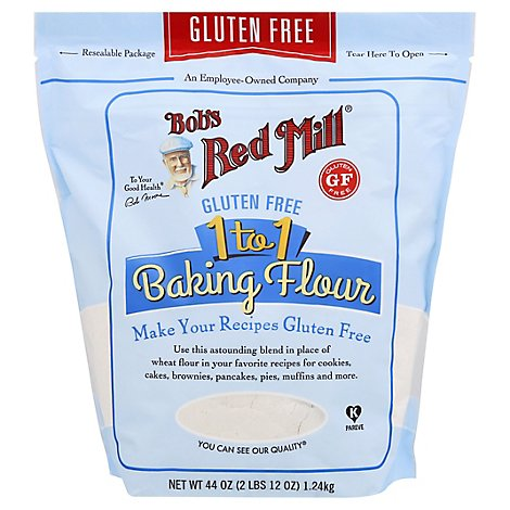 Bobs Red Mill 1 To 1 Flour For Baking Gluten Free - 44 Oz