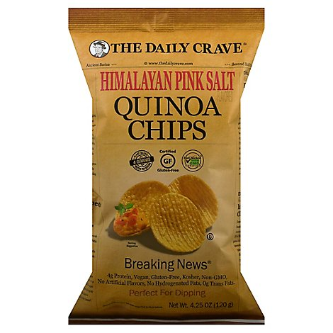 The Daily Crave Himalayan Pink Salt Quinoa Chips - 4.25 Oz