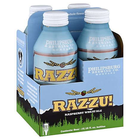 Philipsburg Razzu Wheat In Cans - 4-16 Fl. Oz.