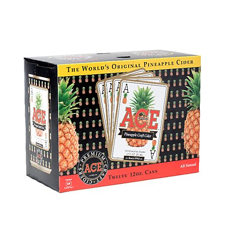 ACE Cider Premium Craft Pineapple Cans - 12-12 Fl. Oz.
