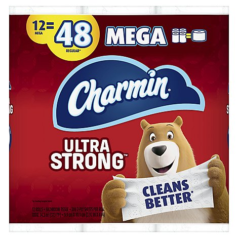 Charmin Ultra Strong Bathroom Tissue Mega Rolls - 12 Roll
