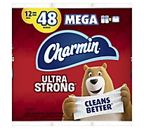 Charmin Ultra Strong Bathroom Tissue Mega Rolls 2 Ply Sheets - 12 Roll
