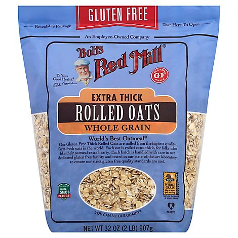 Bobs Red Mill Rolled Oats Gluten Free Extra Thick - 32 Oz