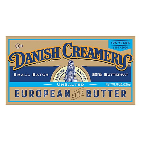 Danish Creamery European Style Unsalted - 8 Oz