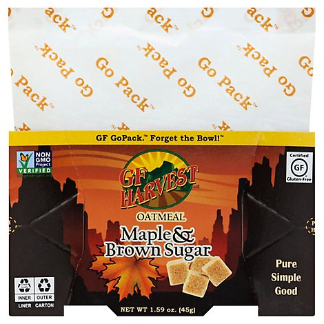 Gf Maple Brwn Sugar Oatmeal Gopack - 1.59 Oz