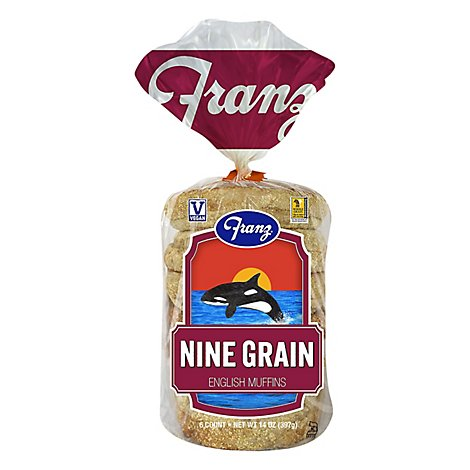 Franz 9 Grain English Muffins - 14 Oz