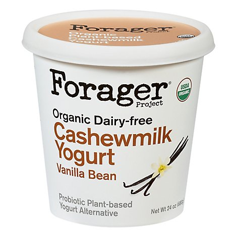 Forager Project Organic Yogurt Alternative Cashewmilk Dairy Free Vanilla Bean - 24 Oz