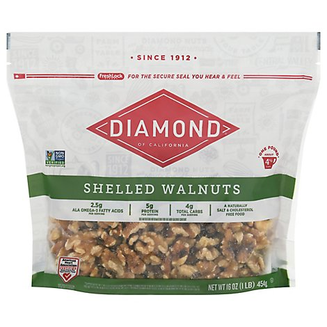 Diamond Walnuts Shelled - 16 Oz