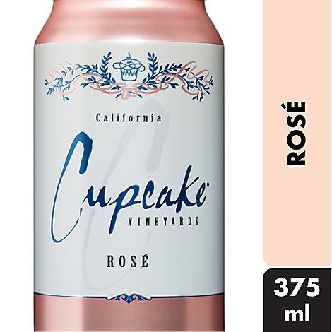 Cupcake Rose Cans Wine - 375 Ml
