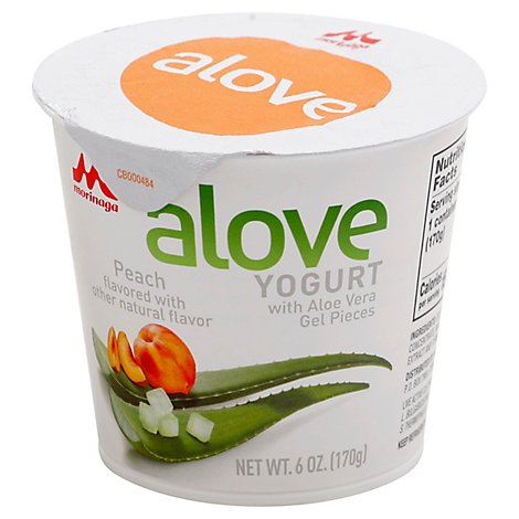 Alove Yogurt Peach Aloe Vera - 6 Oz