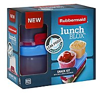 Rubbermaid Lunch Blox Snack Kit Leak Proof With Side & Snack Containers Box - Each