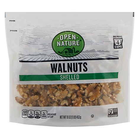 Open Nature Walnuts Shelled Bag - 16 Oz