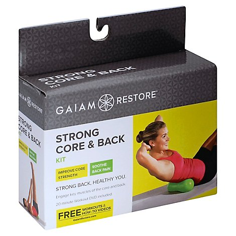 Gaiam Restore Strong Core & Back Kit Box - Each