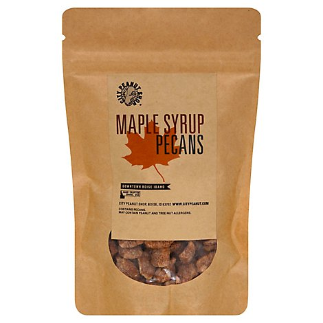 City Peanut Maple Syrup Pecans - 4 Oz