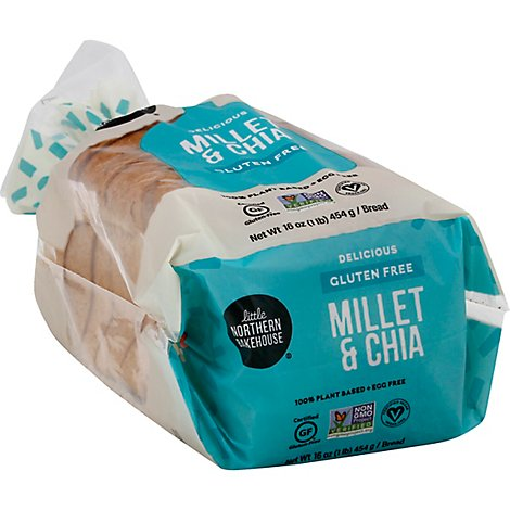 Little Northern Bakehouse Bread Gluten Free Loaf Millet & Chia Bag - 16 Oz