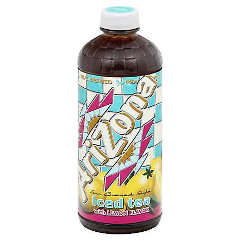 AriZona Iced Tea With Lemon Flavor Sun Brewed Style Bottle - 34 Fl. Oz.