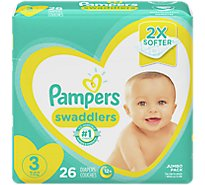 Pampers Swaddlers Diapers Size 3 - 26 Count