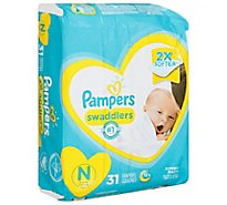 Pampers Swaddlers Diapers Size N - 31 Count
