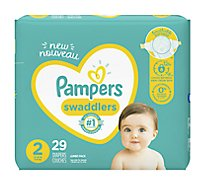 Pampers Swaddlers Diapers Size 2 - 29 Count