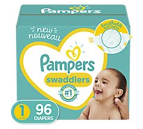 Pampers Swaddlers Diapers Size 1 Newborn - 96 Count
