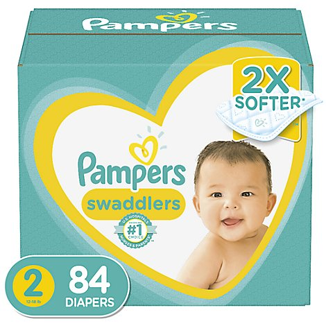 Pampers Swaddlers Diapers Size 2 Super Pack Box - 84 Count
