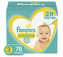 Pampers Swaddlers Diapers Size 3 Super Pack Box - 78 Count