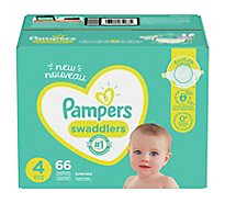 Pampers Swaddlers Diapers Size 4 - 66 Count