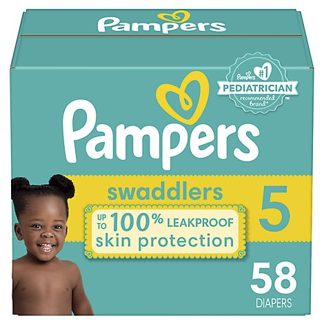 Pampers Swaddlers Diapers Size 5 - 58 Count