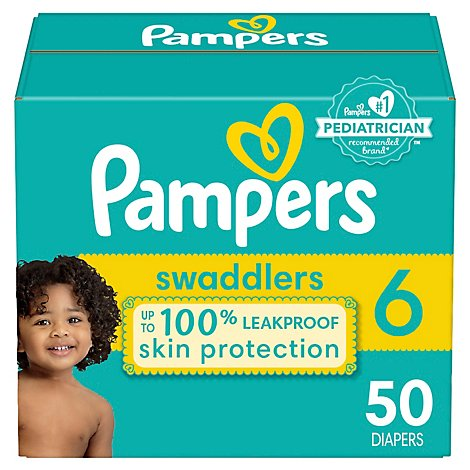 Pampers Swaddlers S6 Super - 50 Count