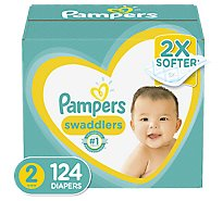 Pampers Swaddlers Diapers Size 2 - 124 Count