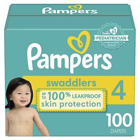 Pampers Swaddlers Diapers Size 4 - 100 Count