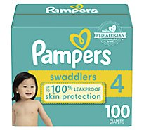 Pampers Swaddlers Diapers Active Baby Size 4 - 100 Count