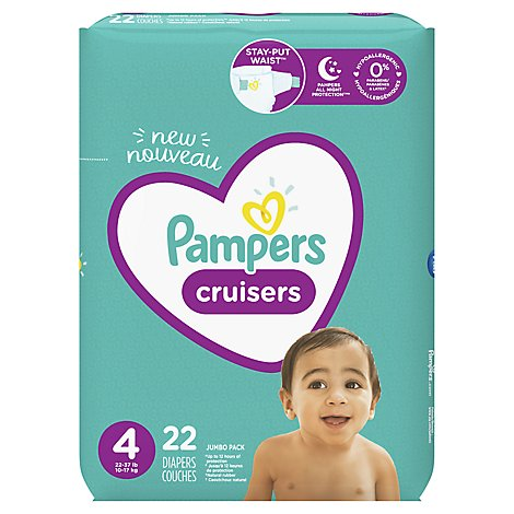 Pampers Cruisers Diapers Size 4 Jumbo Pack Bag - 22 Count