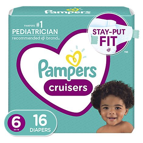 Pampers Cruisers Diapers Size 6 Jumbo Pack Bag - 16 Count