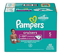 Pampers Cruisers Diapers Size 5 Super Pack Box - 60 Count