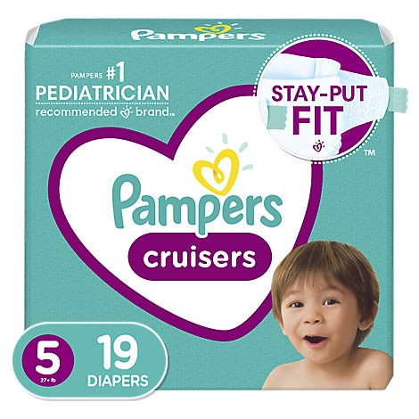 Pampers Cruisers Diapers Size 5 - 19 Count