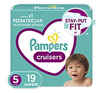 Pampers Cruisers Diapers Size 5 Jumbo Pack Bag - 19 Count