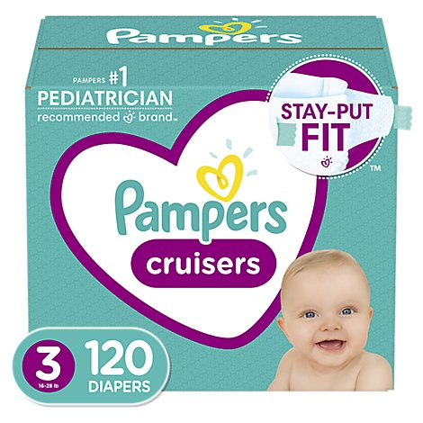 Pampers Cruisers S3 Giant - 120 Count