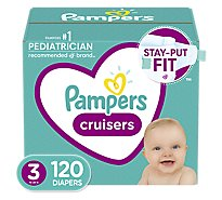 Pampers Cruisers Diapers Size 3 - 120 Count