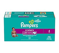 Pampers Cruisers Diapers Size 4 - 104 Count