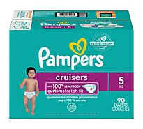 Pampers Cruisers Diapers Size 5 - 90 Count