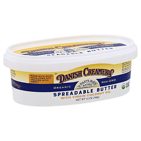 Danish Creamery Spreadable Butter With Coconut Oil - 12 Oz