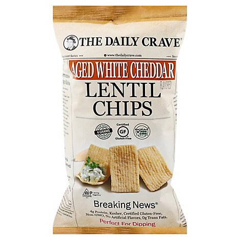 The Daily Chip Lentil Aged Wht Chdr - 4.25 Oz