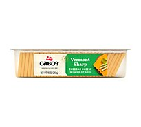 Cabot Cheese Cheddar Cracker Cut Slices Vermont Sharp Tray - 10 Oz