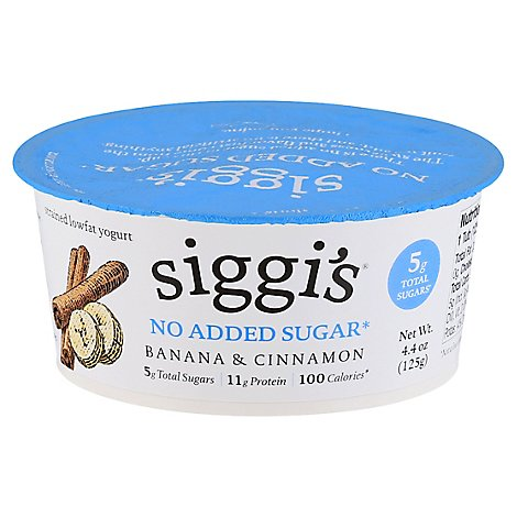 Siggis Banana And Cinnamon Yogurt - 4.4 Oz
